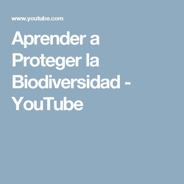 Aprender a Proteger la Biodiversidad - YouTube