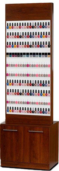 An elegant nail polish rack to display all the shades of nail-paints.