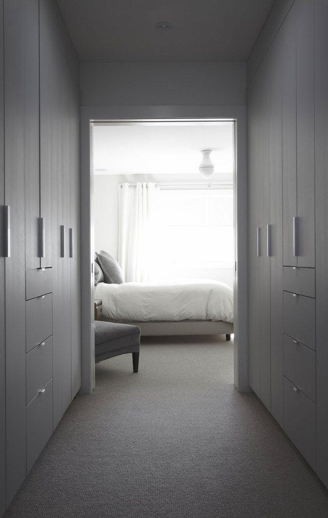 white interior, bedroom, wardrobe