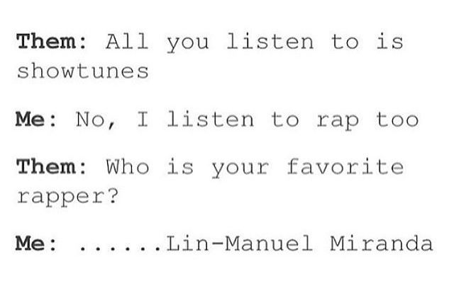 Sadly too true. Lin-Manuel Miranda