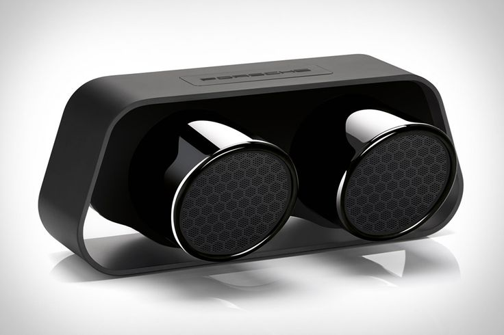 The Porsche Design 911 Speaker doesn't just look like an exhaust pipe. It's built from one. Using the pipes from the 911 GT3 to output the sound and an aluminum housing to keep them perched in mid-air, this speaker is a tempting gadget for any auto lover. Bluetooth 4.0 with apt-X and 60 watts of power ensure high-quality sound, and 24 hours of battery life means that like the car it's built from