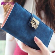 Lady Style! 2015 women wallets frosted diamond bowknot buckle hasp matte wallets lady's long wallet purse card cHL7139(China (Mainland))