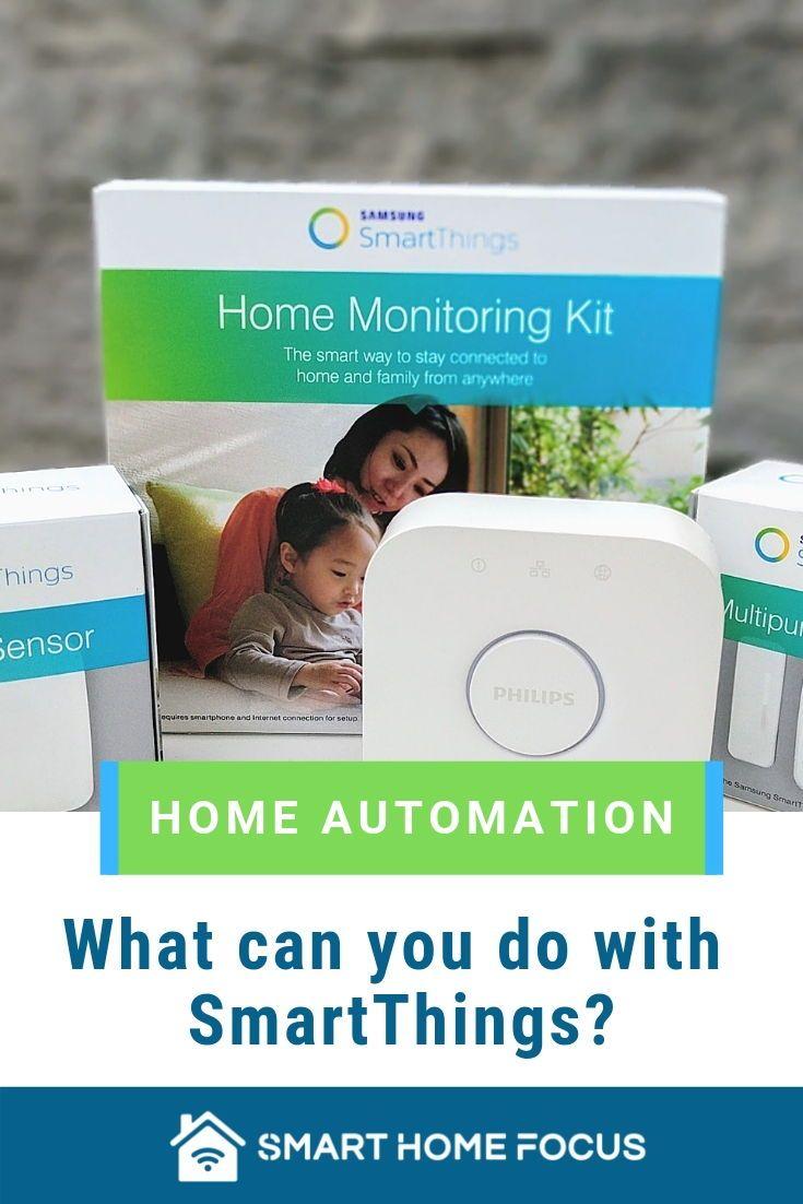 Smartthings Home Automation Hub Smart Home Home Automation