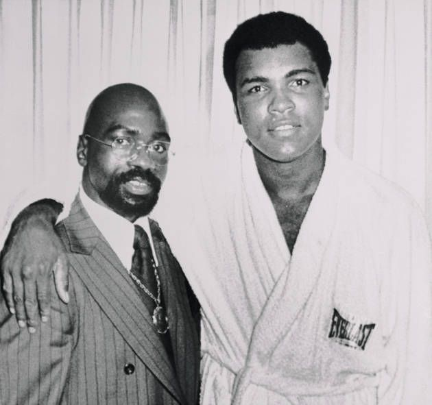 Rubin Carter Photo Gallery: Former middleweight contender Rubin 'Hurricane' Carter, dropped by Muhammad Ali's hotel suite, to thank the heavyweight champ for his efforts in getting Carter a new trial. 1976