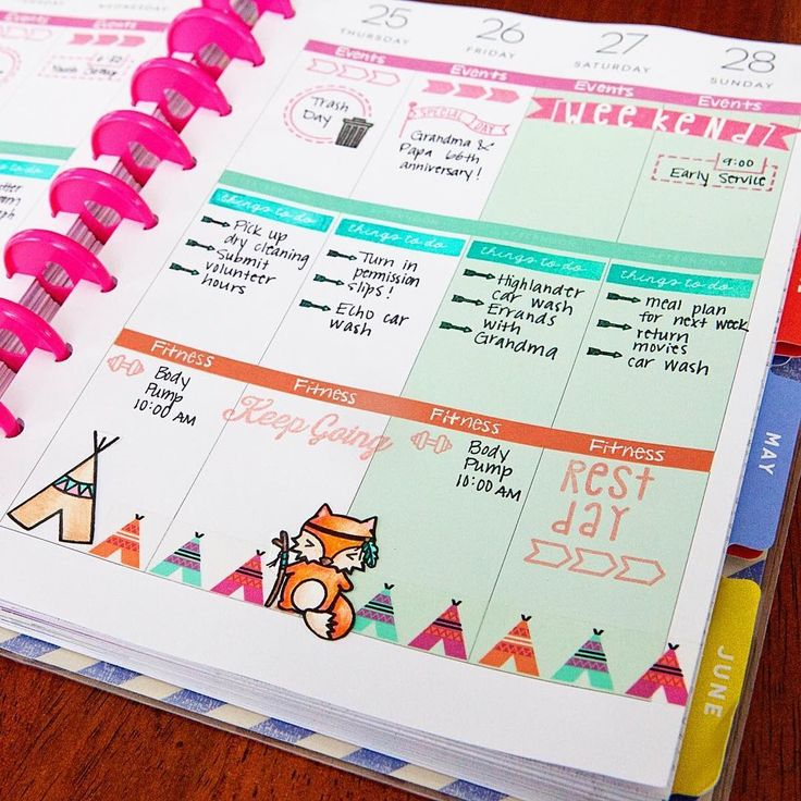 Planner page by designer Meredith Ensell using the Sweet Stamp Shop Adventure Awaits stamp set