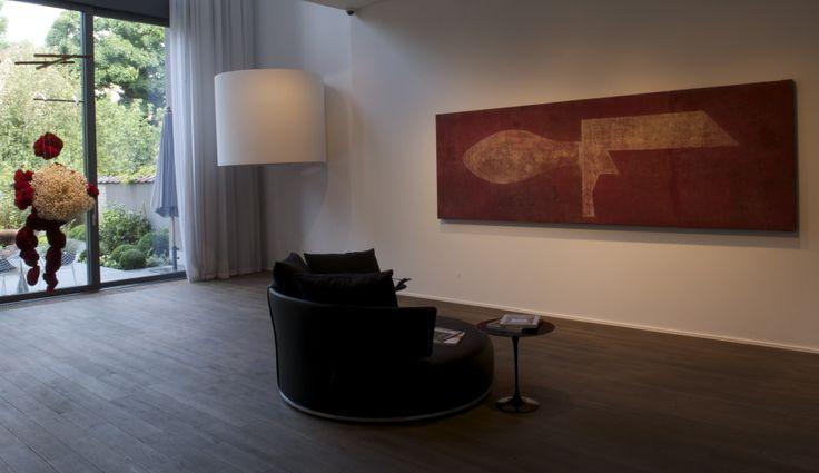 Andres Serrano - Bloodscape IX - 2008;  Lluis Leo - Liquid Line - 2000