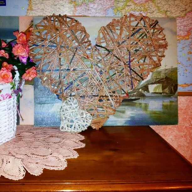 Cannucce di carta cuore