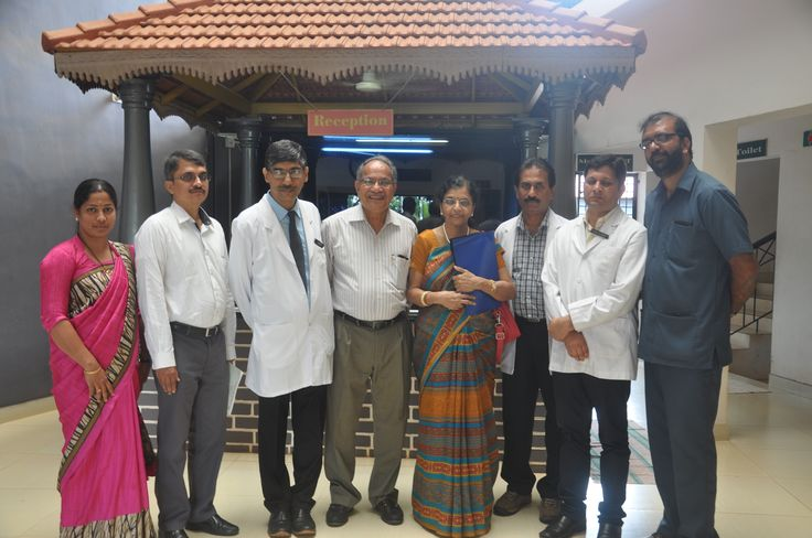 NITTE University Vice chancellor's Visit: Vice chancellor Prof. (Dr.) S Ramananda Shetty along with Prof. Indrani Karunasagar professor and head, department of basic science and Dr.Girisha B.S. professor and head, department of #dermatology visited IAD on 25th June 2016. The team went around and appreciated the ongoing work on integrative treatment for #Lymphoedema. They also inspected the medical records division to know the evidence of #integrativetreatment protocols.