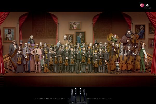 Harry Potter characters as an orchestra - LG Orchestra by Guilherme Rácz, via Behance