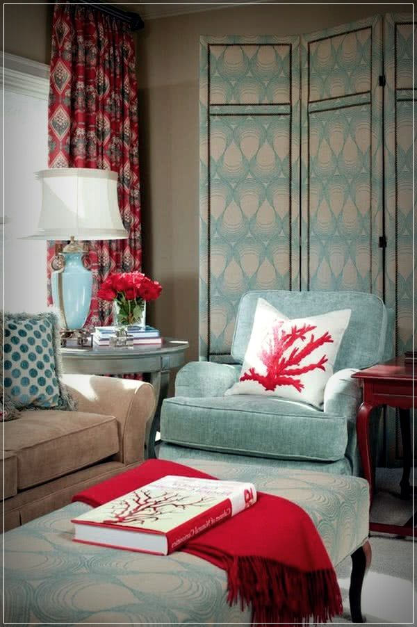 Pin On Living Room Designs #turquoise #and #red #living #room