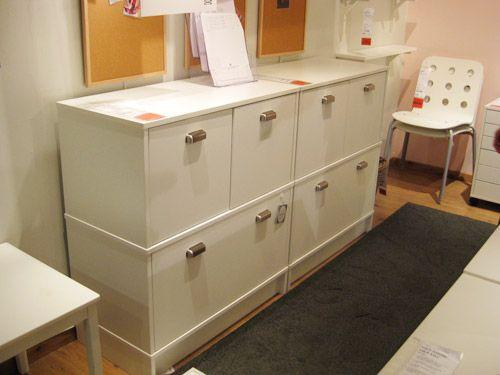 File Storage u0026 Office Organization In An Effektiv Ikea Cabinet