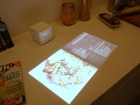 Sony's Portable Short Throw Projector turns any wall, table, or fridge door into a touchscreen TV