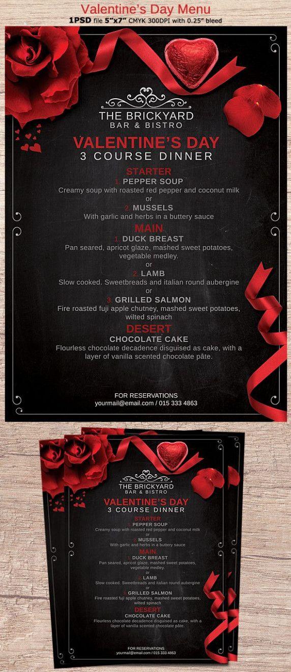 13 Best Valentine Menu Card Valentine S Day Menu Ideas Valentine S Menu Ideas Menu Card Design