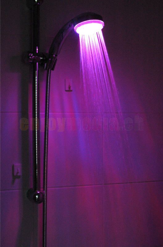 led light shower headso you can fist pump as you shower
