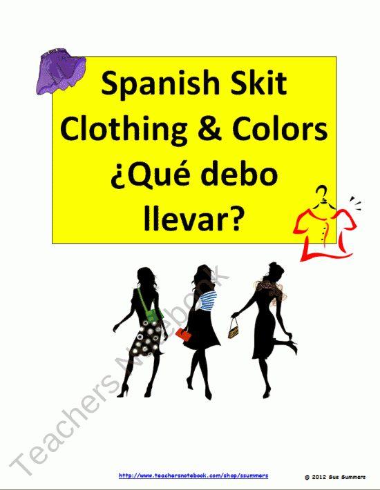 Classroom Skit Ideas : Best spanish speaking activities skits role plays