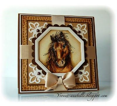 not a fan of horses but love the layout of this card - and the coloring is very good. Also a great use of spellbinders dies.