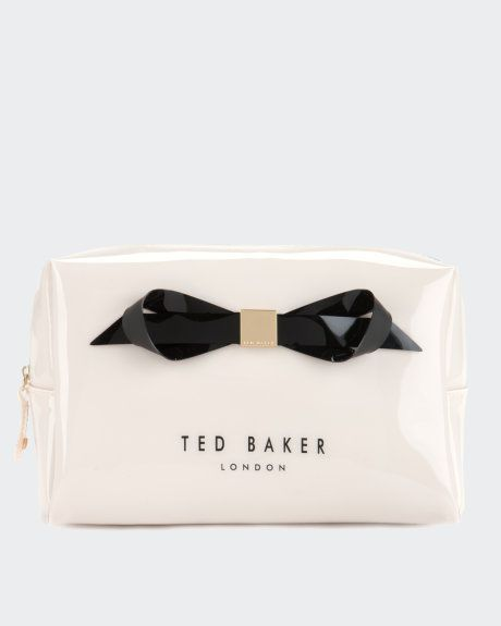 Large bow cosmetic bag - Cream | Gifts for Her | Ted Baker