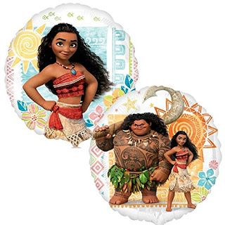 Please Plan My Party: Disney Moana Party Ideas Balloon 2 pack featuring Moana and Maui.