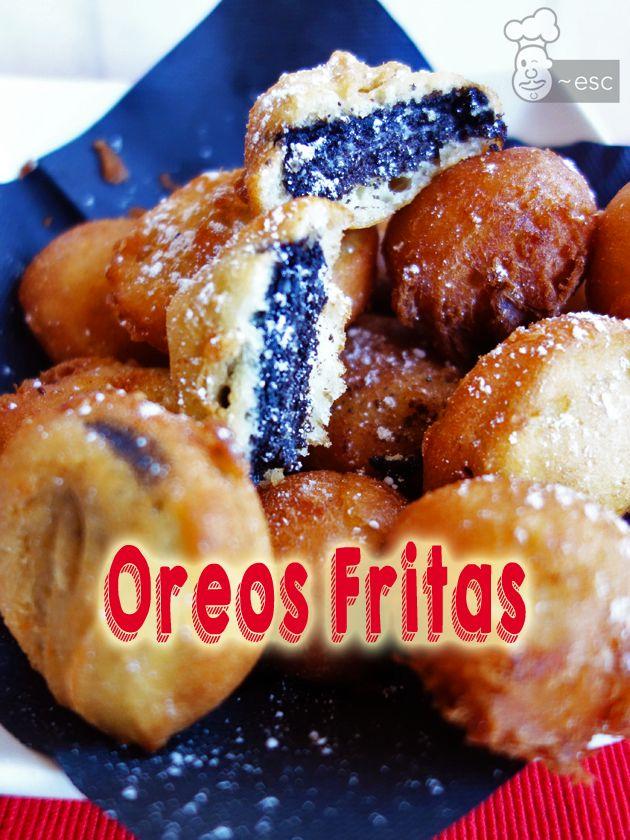Galletas Oreo fritas o buñuelos de oreo | Receta fácil paso a paso