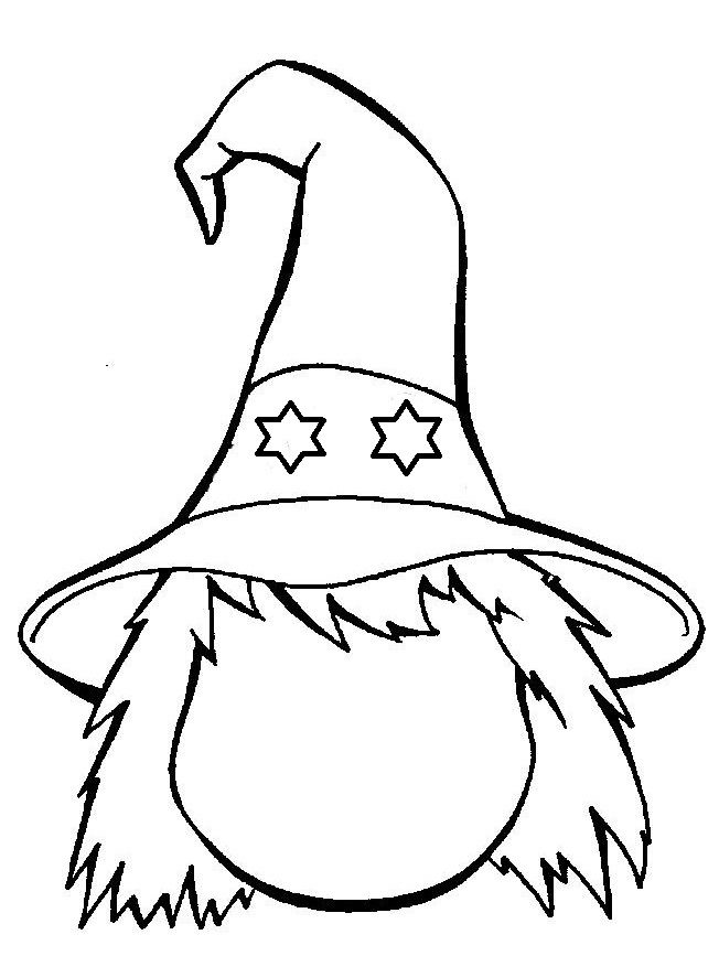 * Teken het gezicht... Idee: Druk af op A3 en laat de ll. de heks helemaal tekenen, verven, kn/pl...