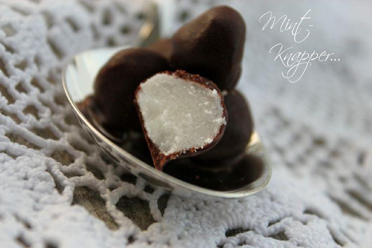 Mintknapper med sjokoladetrekk...