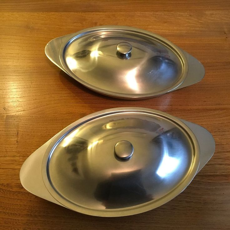 Pair of VTG GENSE SWEDEN Stainless Steel Tureens 60s 70s Modernist Scandinavian  | eBay