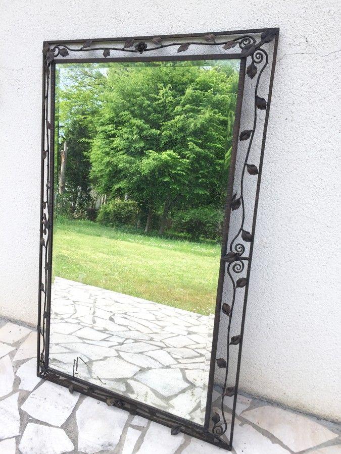 miroir fer forge art deco 1930 800