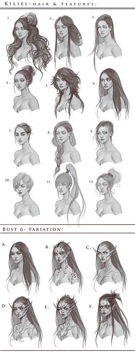 New hair drawing bun faces Ideas