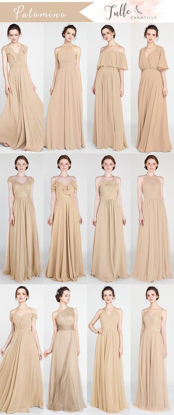 Palomino Neutral Bridesmaid Dresses For 2018 Trends Wedding Weddinginspiration Bridesmaids Beige Bridesmaid Dress Short Bridesmaid Dresses Beige Bridesmaids