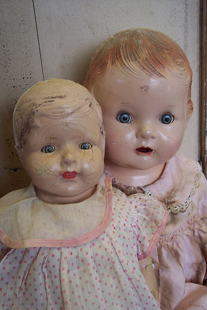 Beautiful..old, old dolls. (fiction) Aubrie finds in attic at Grace Bed & Breakfast in Stillwater Springs. Belonged to her grandmother, Amelia Grace Camden Barwick. X