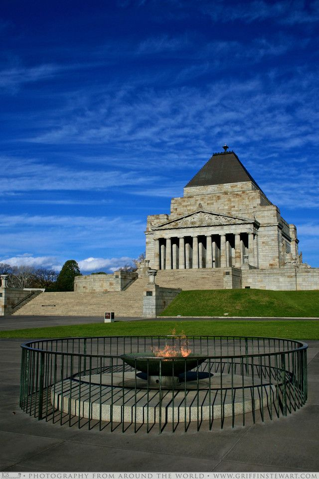 Shrine of Remembrance, Melbourne ~ Australia. Beautiful memorial for our armed forces.