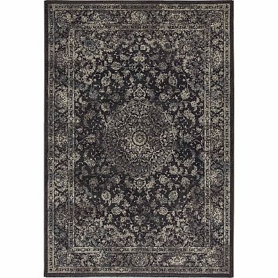 Ultramodern yet traditional patterned 'Black Antares' rug