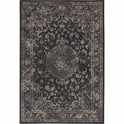 Ultramodern yet traditional patterned 'Black Antares' rug