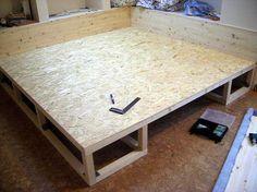 Как построить подиум в спальне своими руками