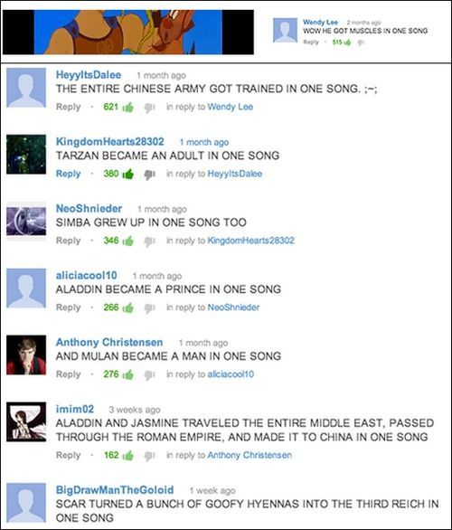 A lot can happen in one song. Good ole Disney songs!