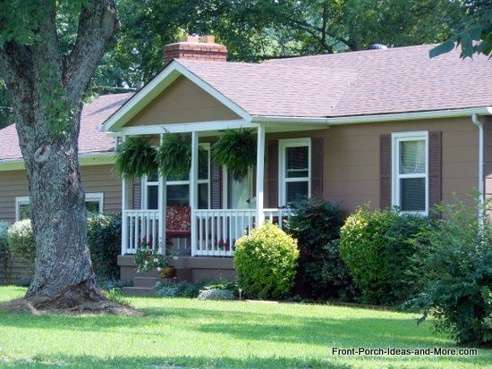 120 best images about ranch home porches on pinterest for Patio home plans ranch