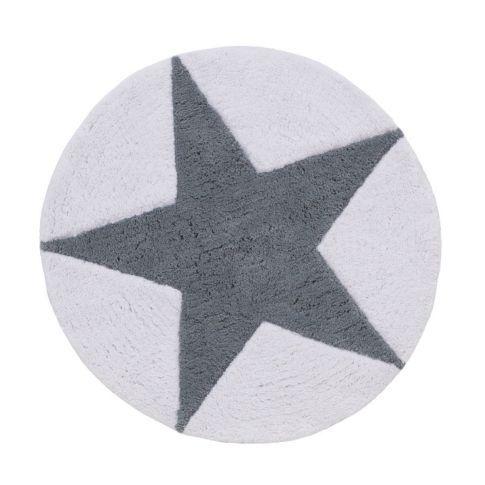 Badematte, getuftet, rund, Sternenmuster, Baumwolle Vorderansicht