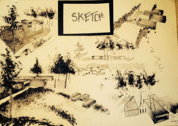 Sketches#black ink# artist house#concept#