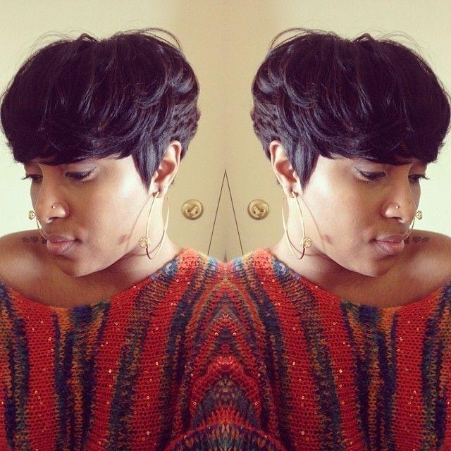 50 short hairstyles for black women long bangs short pixie and 50 short hairstyles for black women long bangs short pixie and pixie cut urmus Gallery