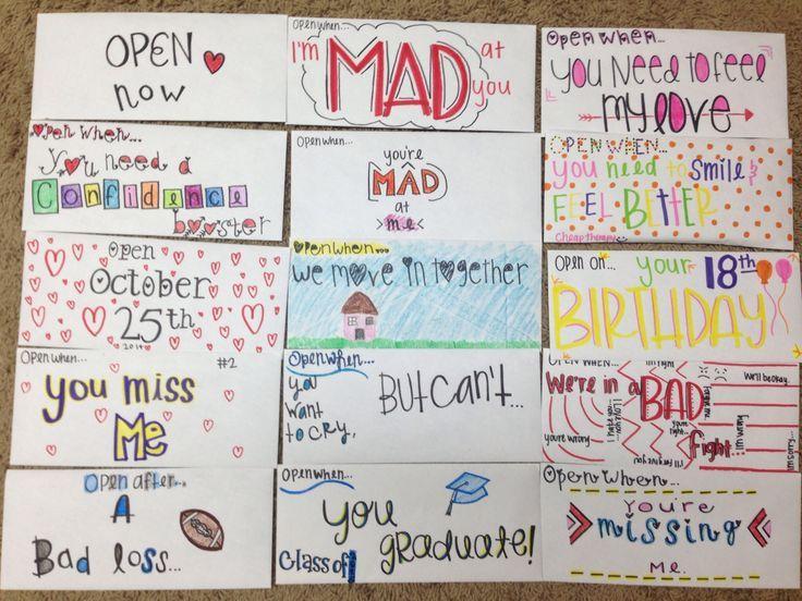 Best  Open When Letters Ideas On   Open When Letters