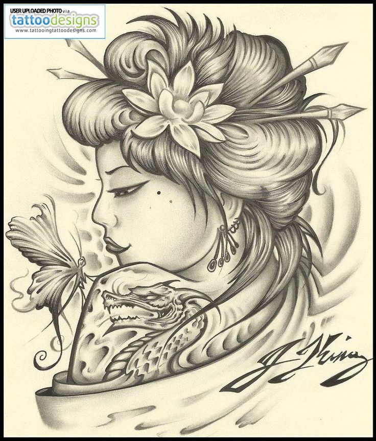 Geisha Tattoo By Jksart Image
