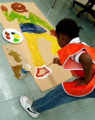 Self Portraits at Holmes Elementary with teaching artist Nora Valdez