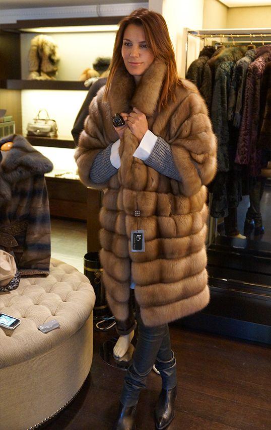 golden sable fur coat