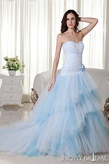 Beautiful Snowy Bridal have a latest selection of blue wedding dresses We offer light blue wedding