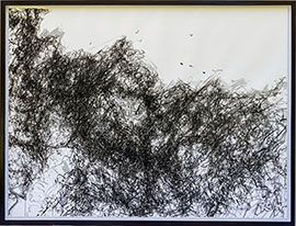 Drawing XI - Large Ink Drawing by Marie-Adèle de Villiers