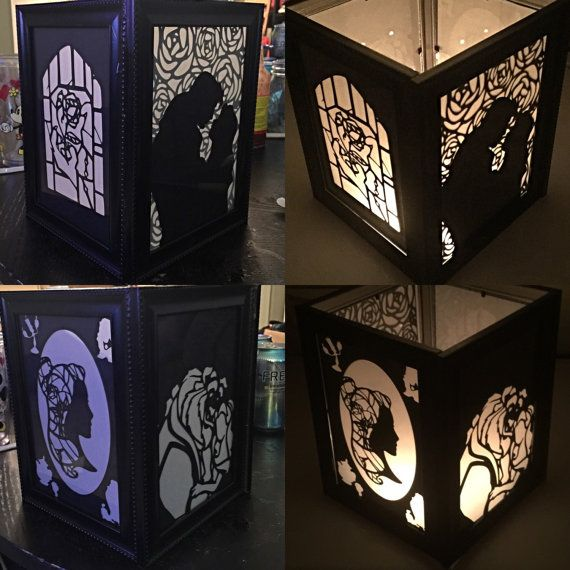 Beauty and the Beast Inspired Lantern by PracPerfCrafts on Etsy                                                                                                                                                                                 More