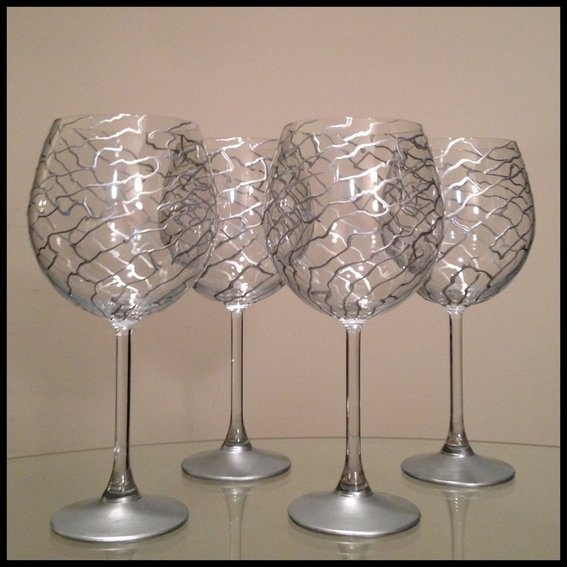 264 best wine glass decorating images on pinterest wine for Diy painted wine glasses