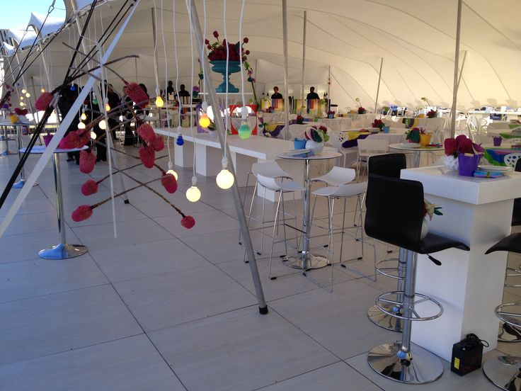 Pearl Teak under a marquee - for Red Hot Events at Oriflame