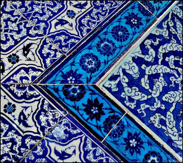 Topkapi tiles, Istanbul Turkey.