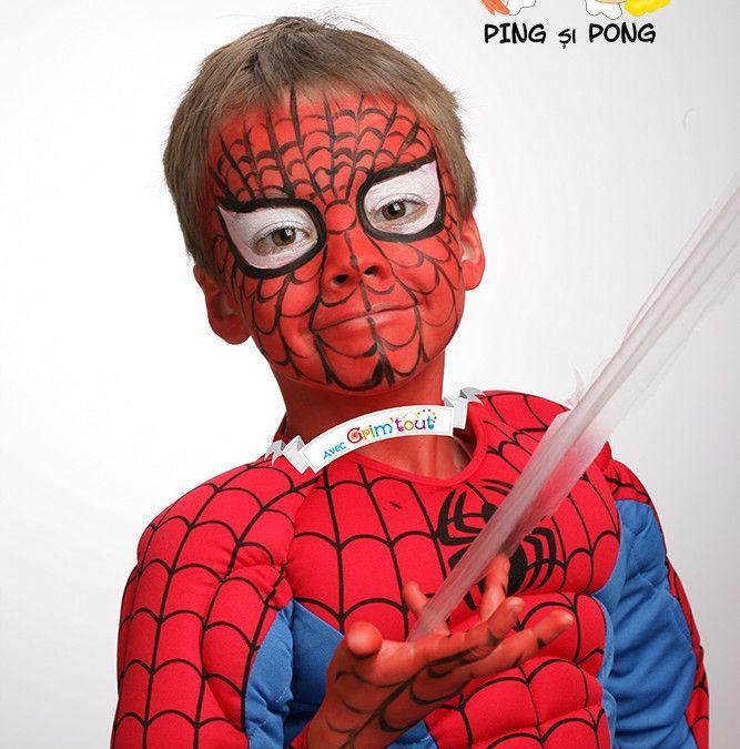 Face-painting: Spiderman în 3 pași